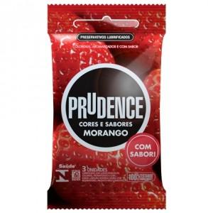 Preservativo Prudence Cores e Sabores - Morango