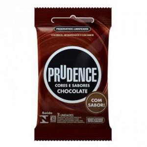 Preservativo Prudence Cores e Sabores Chocolate c/ 3 unidades