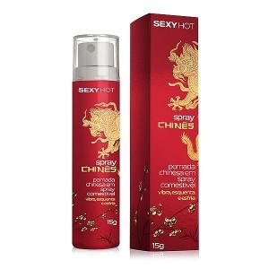 Spray Chinês, - Gel aromatizado comestível - Vibra, esquenta e esfria! (CO281)